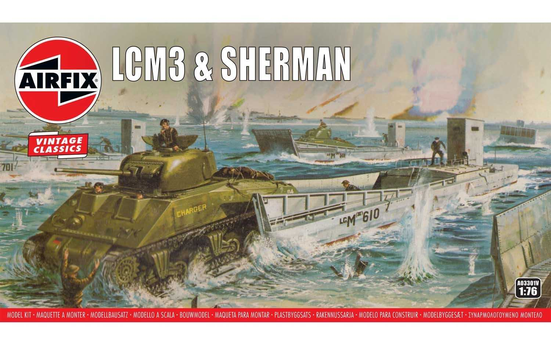 1:76 LCM3 & Sherman Tank (Classic Kit VINTAGE)