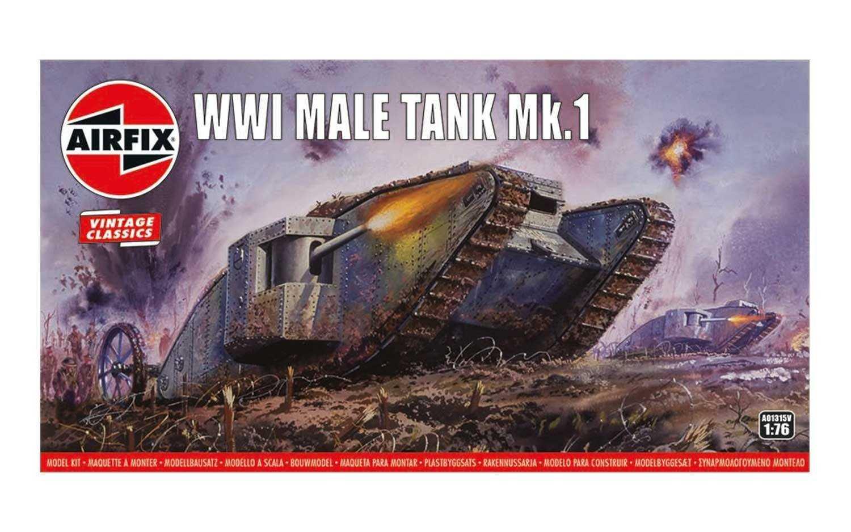 1:76 WWI Male Tank Mk.I (Classic Kit VINTAGE Military)