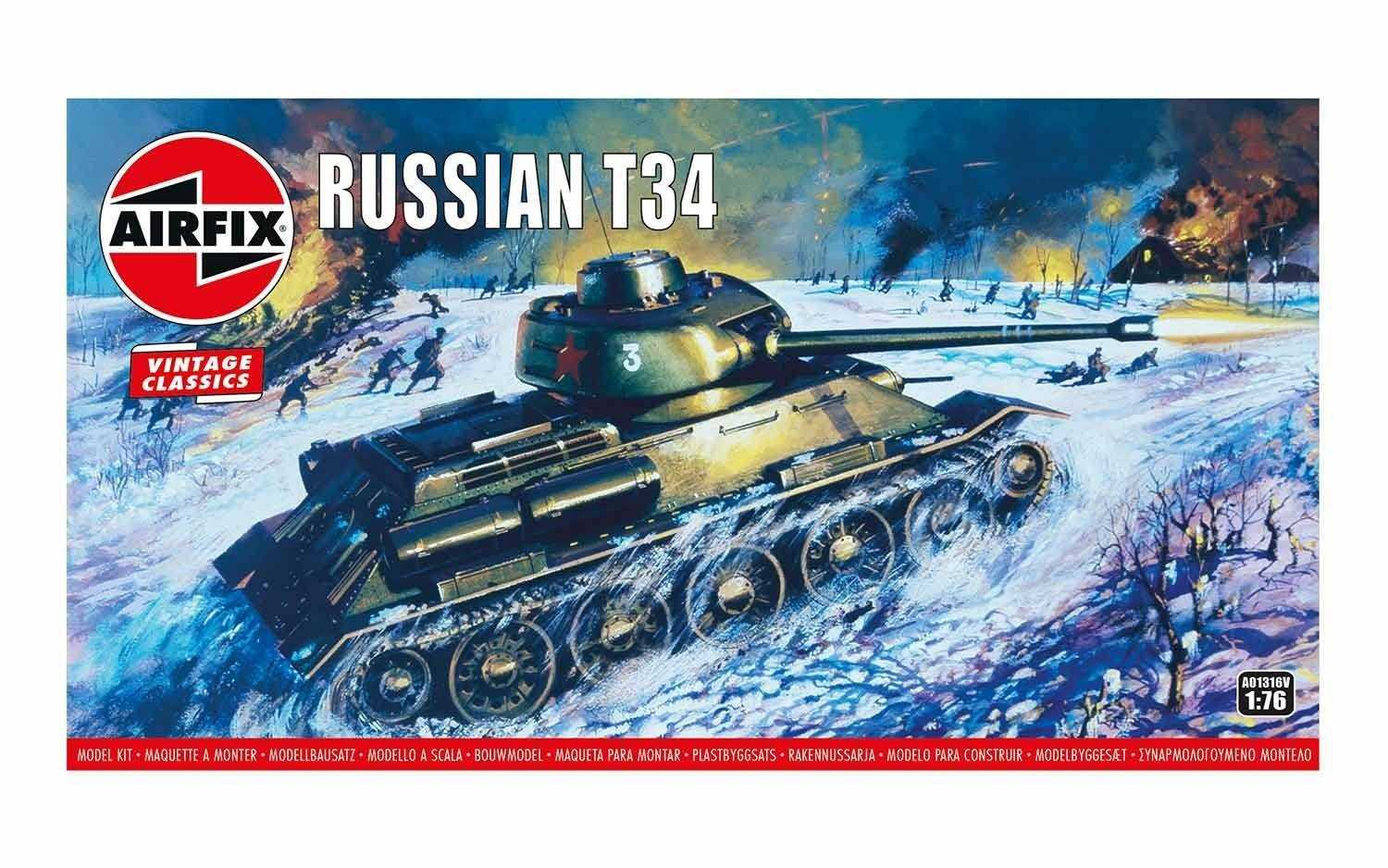 Náhled produktu - 1:76 Russian T34 Medium Tank (Classic Kit VINTAGE Military)