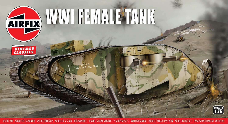 1:76 WWI Female Tank (Classic Kit VINTAGE Military)