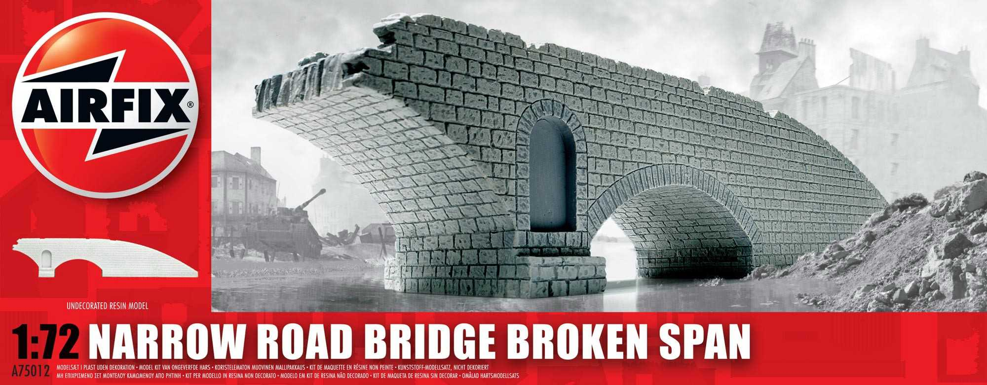 1:720 Narrow Road Bridge Broken Span
