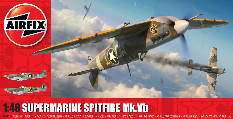 1/48 Plastikový model - letadlo A05125A - Supermarine Spitfire Mk.Vb