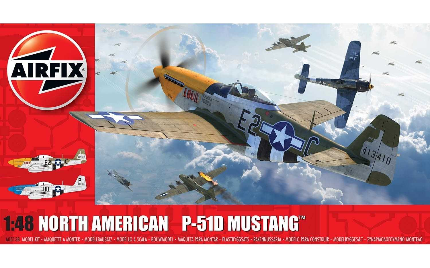 1:48 North American P-51D Mustang (Filletless Tails)