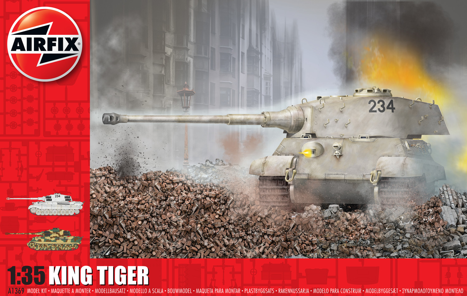 Airfix - tank A1369 - King Tiger 1:35