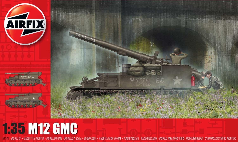1/35 Plastikový model - tank A1372 - M12 GMC