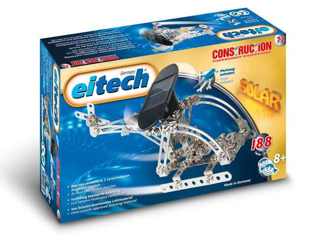 EITECH Solar Powered set - C72 Solar Powered Aircraft + Helicopter