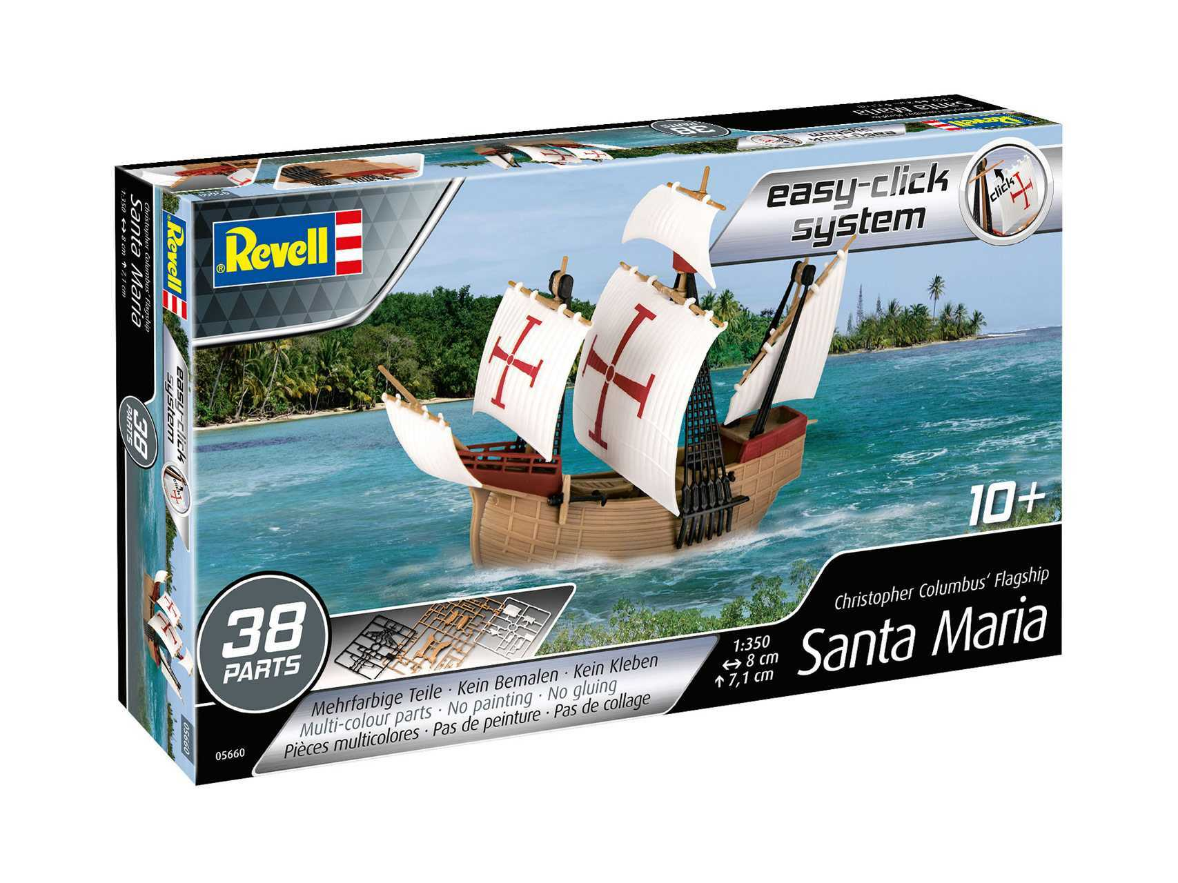 1:350 Santa Maria (Easy-Click System, Model Set)