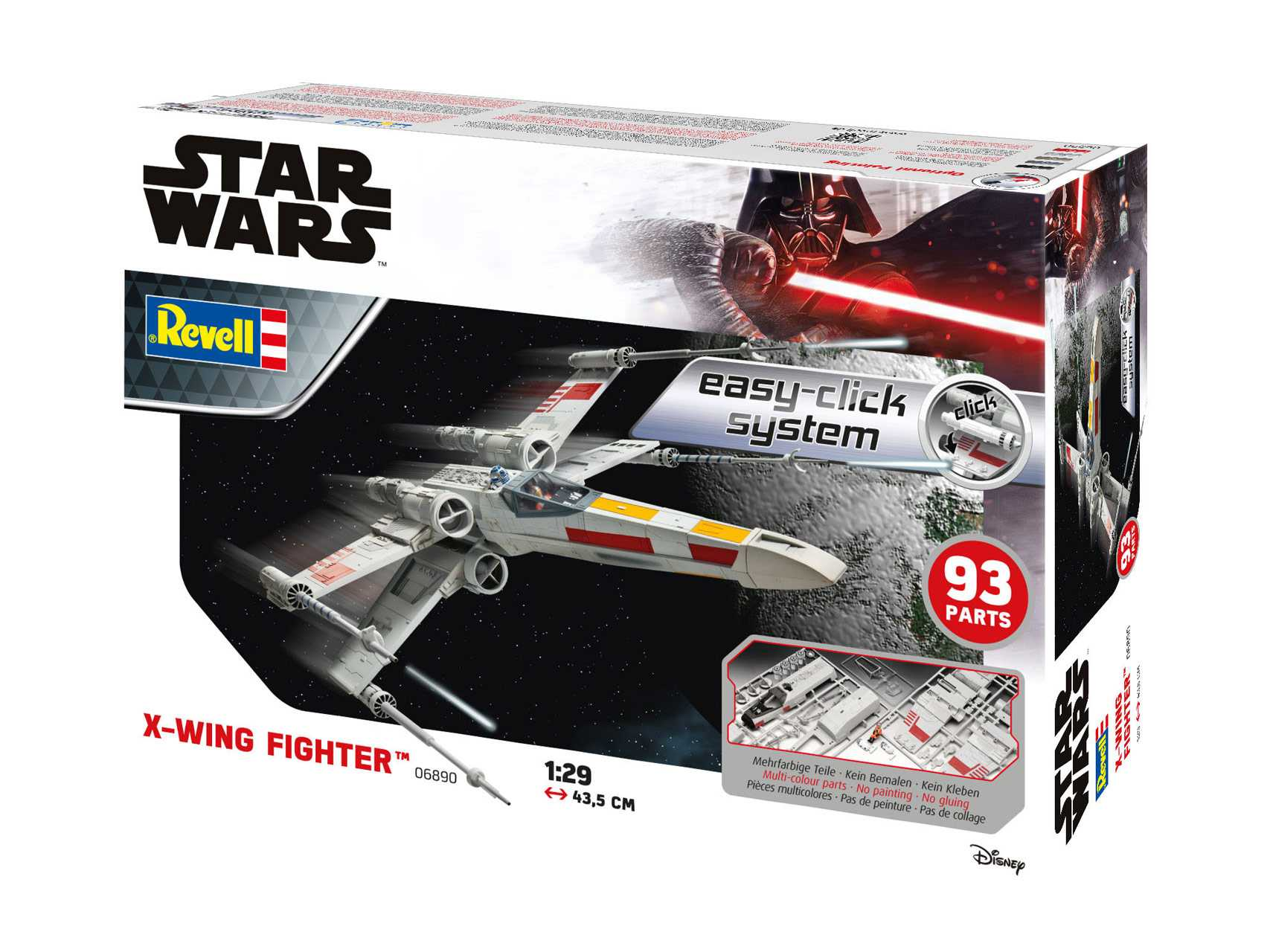 1:29 X-Wing Fighter (Easy-Click System)