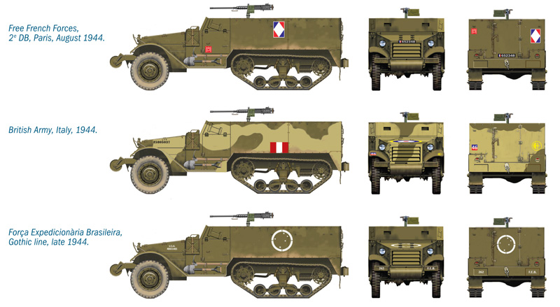 1:72 wargames M3A1 Halftrack 2kusy