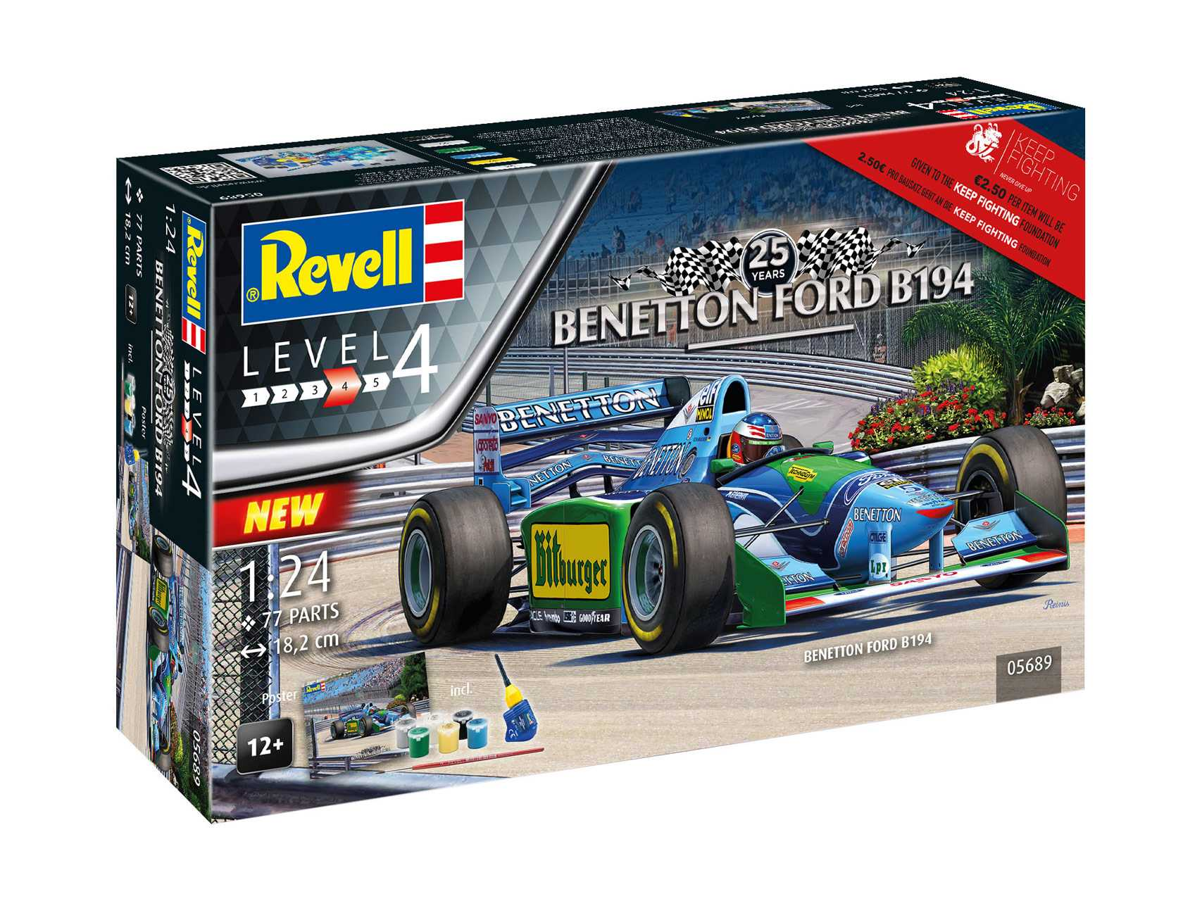 1:24 Benetton Ford B194, 25th Anniversary Benetton Ford B194 (Gift Set)