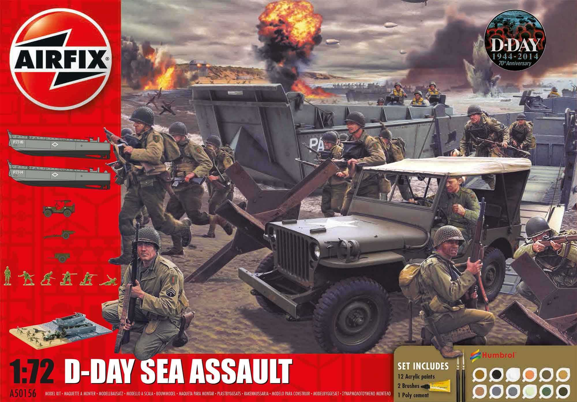 1:72 D-Day Sea Assault, 75th Anniversary Sea Assault (Gift Set)