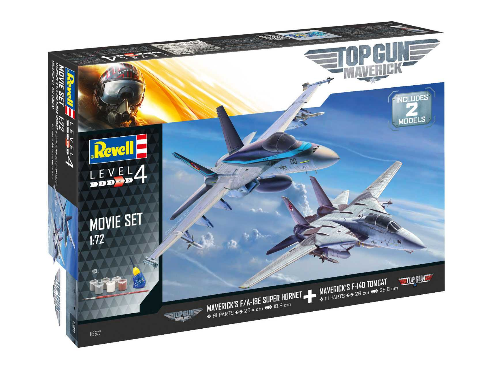 1:72 Top Gun 2 Movie Set (Gift Set)