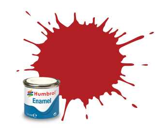 Barva Humbrol emailová č. 153 – Insignia Red Matt (14 ml)