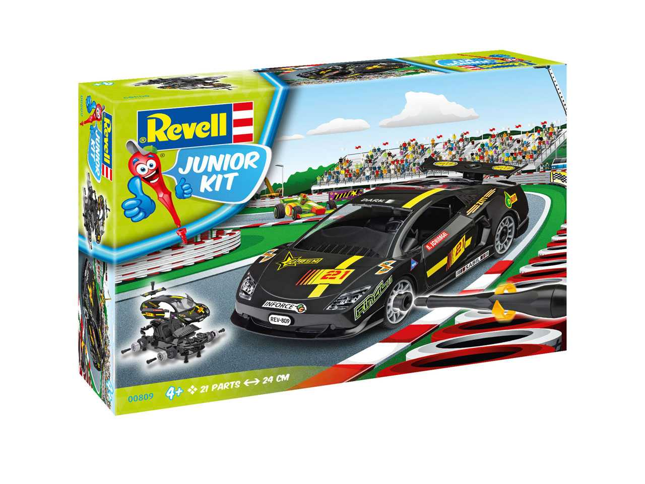 1:20 Racing Car Black (Junior Kit)