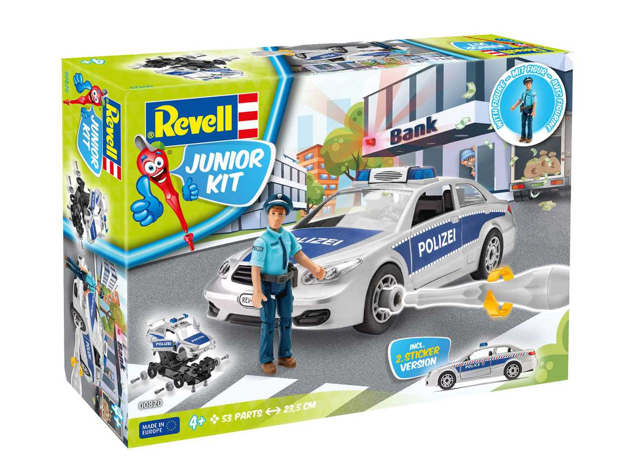 1:20 Police Car with Figure (Junior Kit)