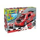 Junior Kit auto 00831 - Pull Back Rallye Car (červené) (1:20)