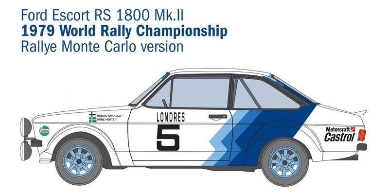 1:24 Ford Escort RS1800 Mk.II
