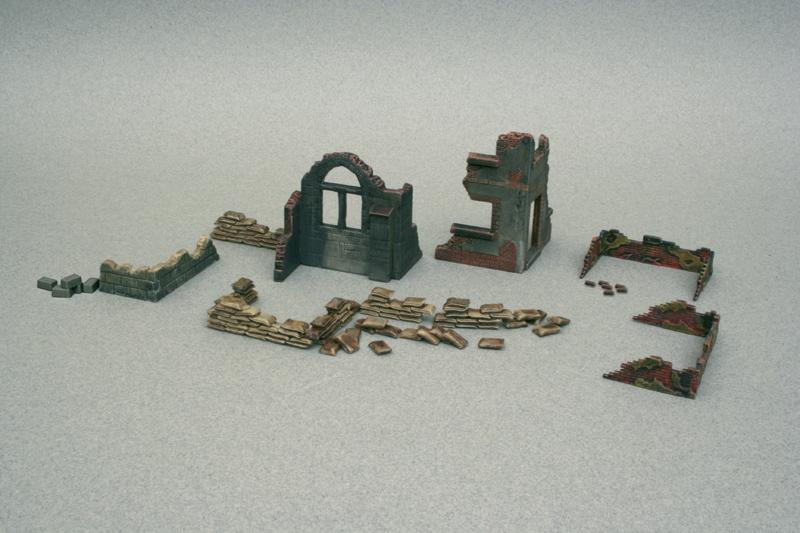 Italeri diorama - WALLS AND RUINS (1:72)