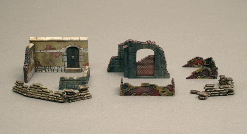 1:72 Doplnky WARGAMES - steny a ruiny II (WWII)