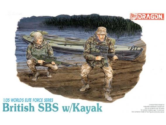 1:35 British SBS w/ Kayak