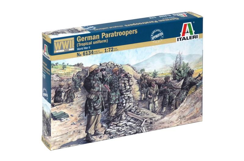 1:72 German Paratroopers w/ Tropical Uniform (WWII)