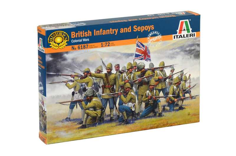 1:72 British Infantry and Sepoys (Colonial Wars)