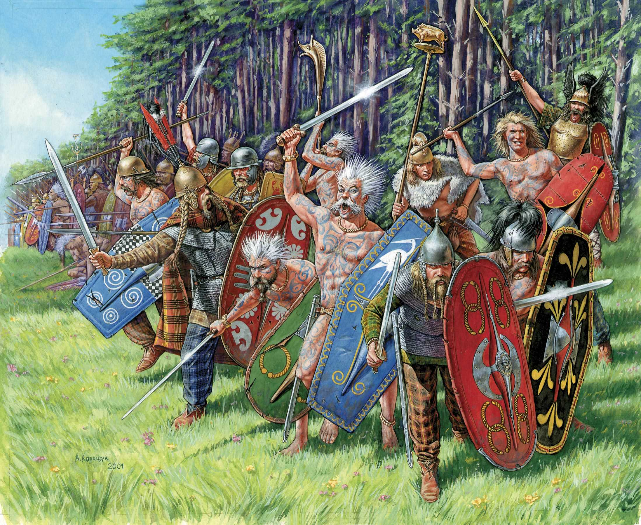1:72 Gallic Warriors