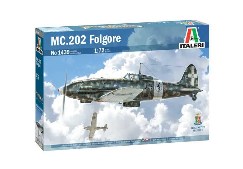 1/72 Plastikový model - letadlo 1439 - MC 202 Folgore