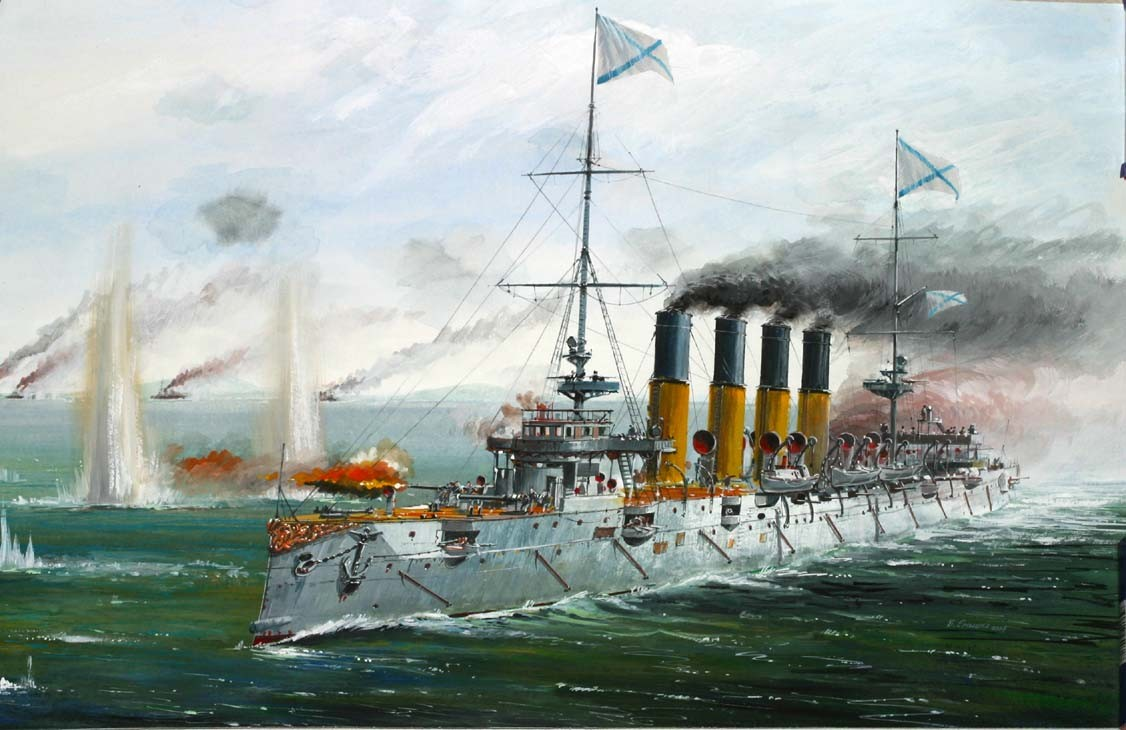 Zvezda Varyag ruský křižník (1:350)
