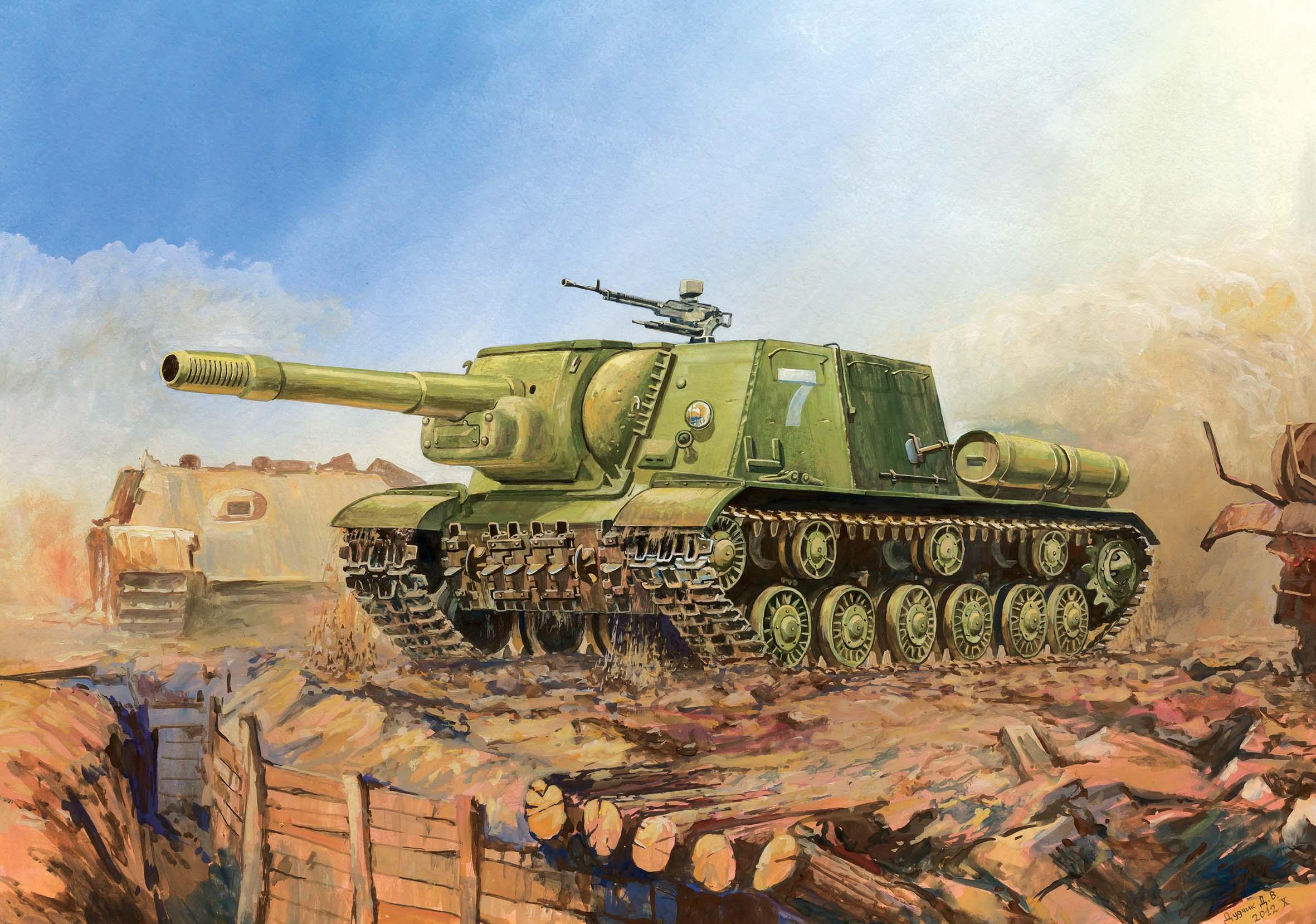 Zvezda sovětské samohybné dělo ISU-152 (1:35)