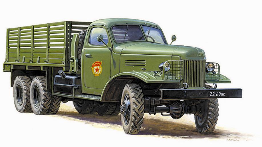 1:35 Soviet track Zis-151