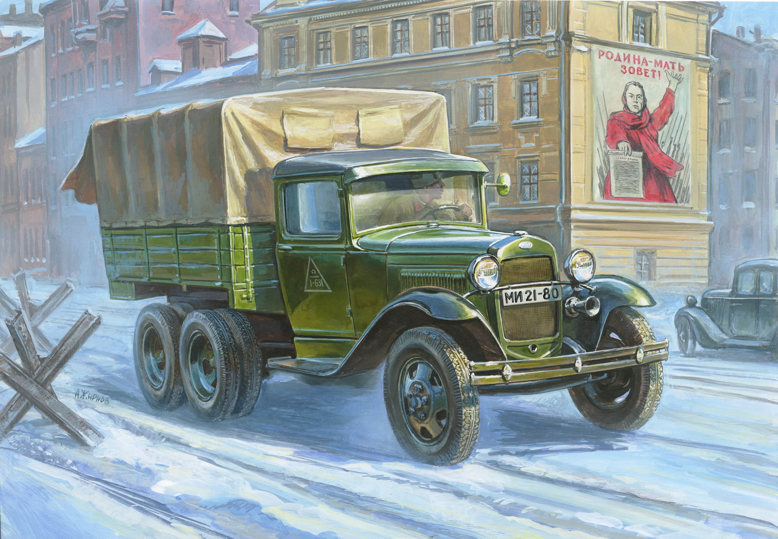 1:35 Gaz AAA Soviet Truck (WWII)