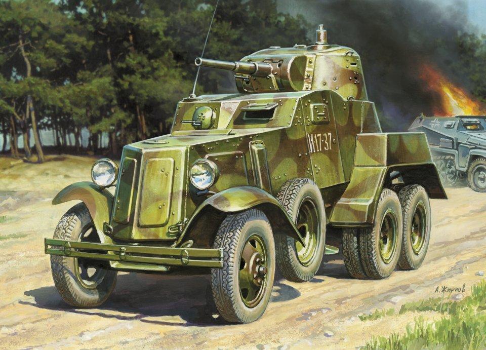 Zvezda sovětské obrněné vozidlo BA-10 (1:35)