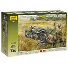 Model Kit military 3651 - Soviet Motorcycle M-72 with Mortar (1:35)