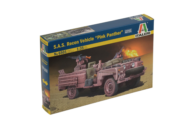 Náhľad produktu - Italeri S.A.S. RECON VEHICLE ″PINK PANTHER″ (1:35)