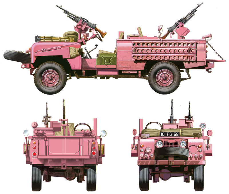Italeri S.A.S. RECON VEHICLE ″PINK PANTHER″ (1:35)
