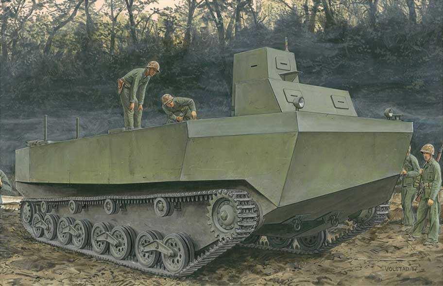 1:35 IJN Special Type 4″Ka-Tsu″Amphibious Tracked Vehicle