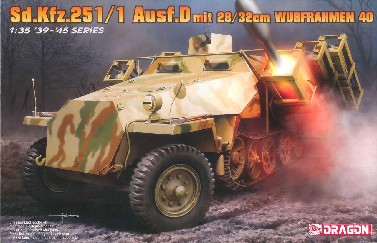 Model Kit military 6861 - Sd.Kfz.251/1 Ausf.D with 28/32cm Wurfrahmen 40 (1:35)