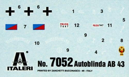 1:72 Autoblinda AB 43