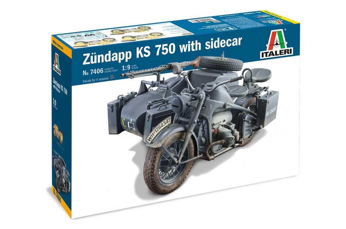 1:9 Zündapp KS 750 w/ Sidecar