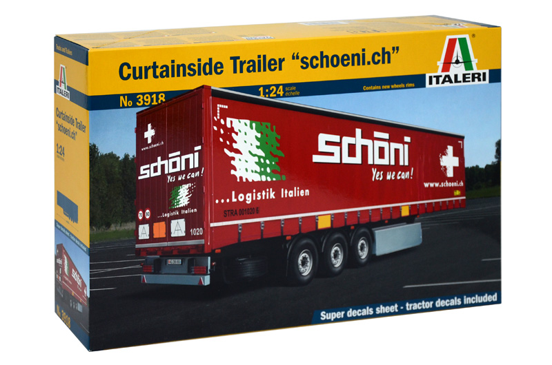 1:24 Curtainside Trailer