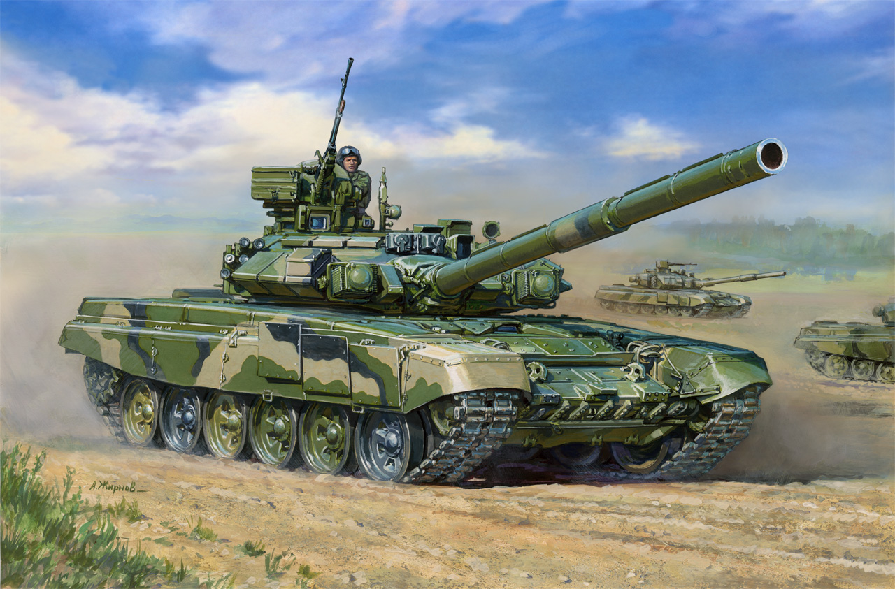 Zvezda ruský tank T-90 MBT (1:35)