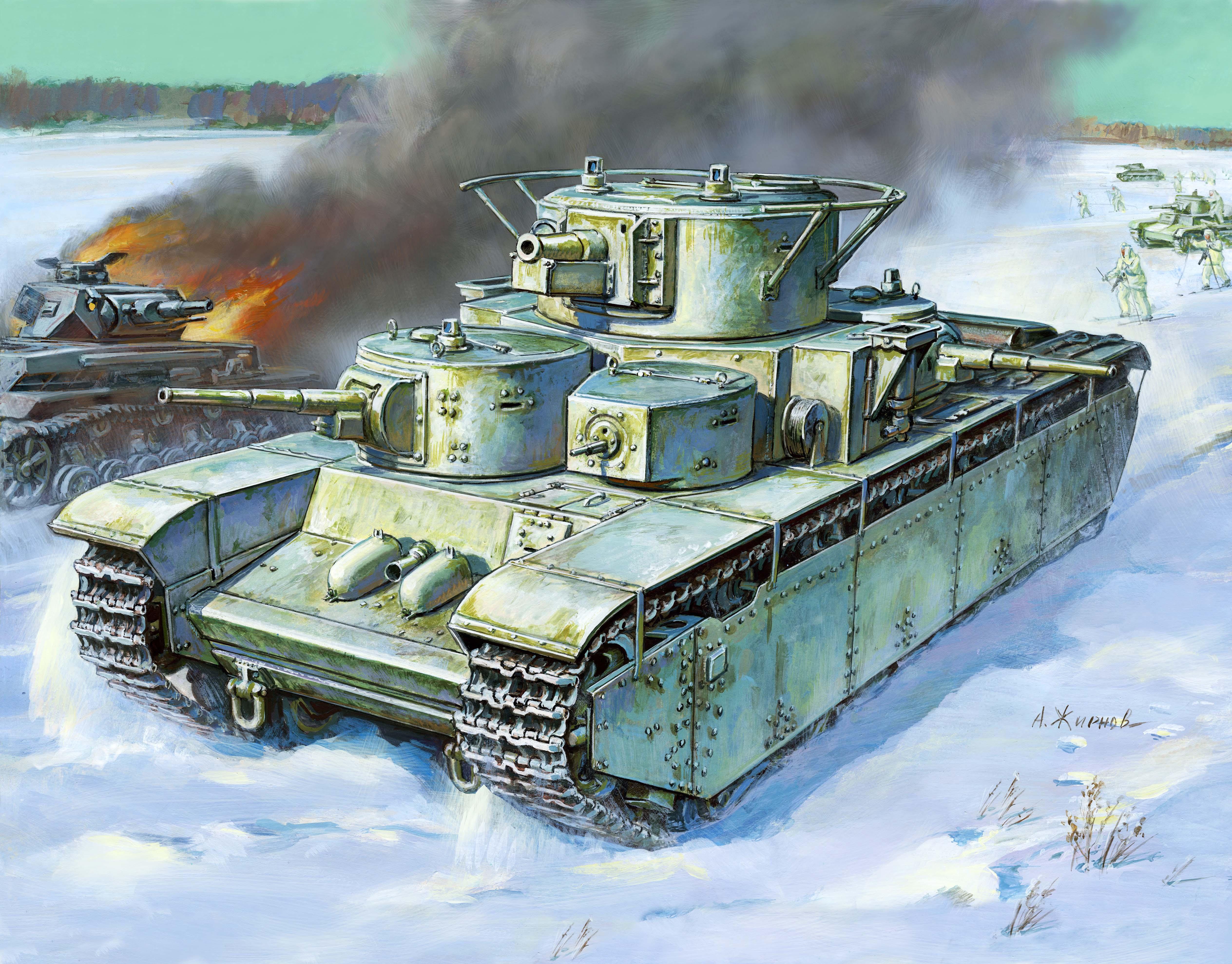 Model Kit tank 3667 - T-35 Heavy Soviet Tank (1:35)