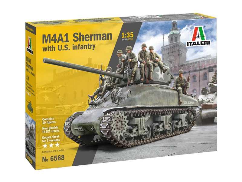 1:35 M4A1 Sherman w/ U.S. Infantry
