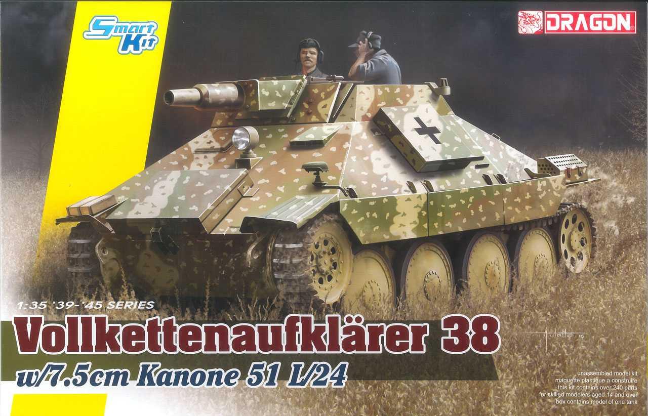 Model Kit tank 6815 - Vollkettenaufklaerer 38 w/7.5cm Kanone 51 L/24 (1:35)