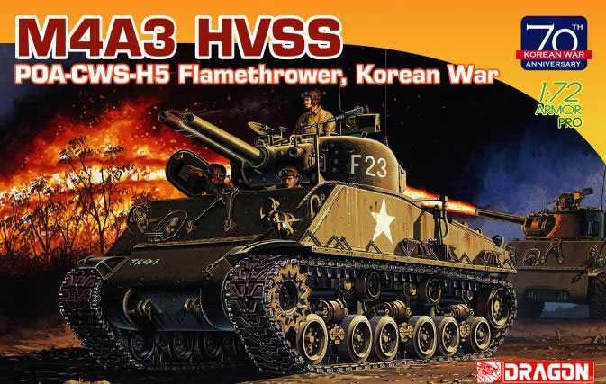 1:72 M4A3 HVSS POA-CWS-H5 Flamethrower, Korean War