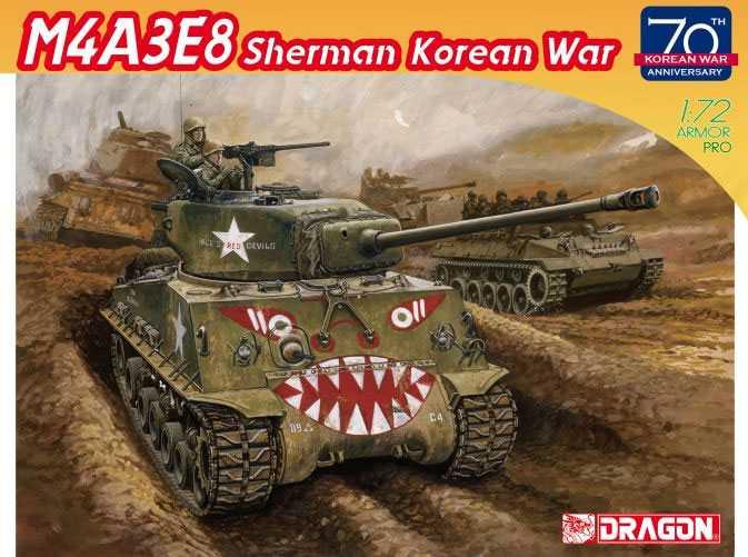 1:72 M4A3E8 Sherman, Korean War