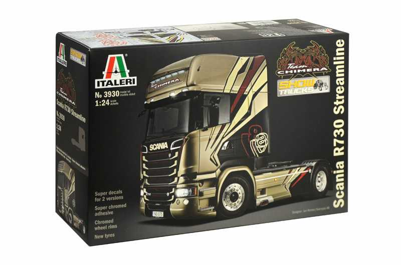 "Model Kit truck 3930 - SCANIA R730 STREAMLINE ""TEAM CHIMERA"" (1:24)"