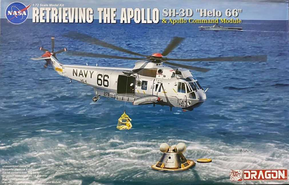 1:72 Apollo Recovery SH-3D ″Helo 66″ & Apollo Command Module