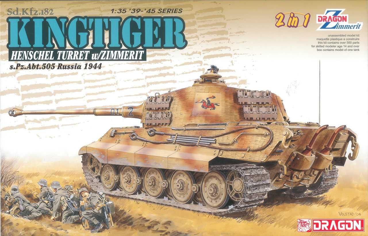 Model kit tank 6840 - Sd.Kfz.182 Kingtiger (1:35)